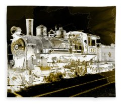 Ghost Train Fleece Blanket
