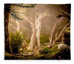 Ghost Tree Fleece Blanket