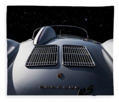 Porsche 550 Spyder Fleece Blanket