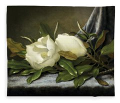 Giant Magnolias Fleece Blanket