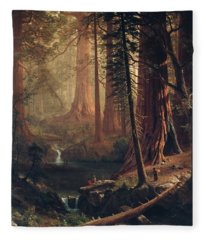 Giant Redwood Trees Of California Fleece Blanket