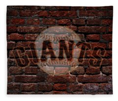 Giants Baseball Graffiti On Brick  Fleece Blanket