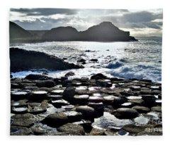 Giant's Causeway Sunset Fleece Blanket