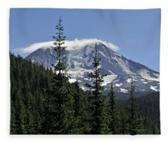 Gifford Pinchot National Forest And Mt. Adams Fleece Blanket