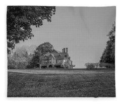 Gilded Age Mansion Fleece Blanket