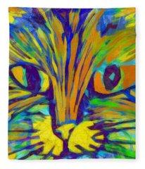 Ginger Kitty Fleece Blanket