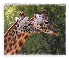 Giraffe 03 Fleece Blanket