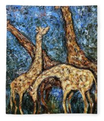 Giraffe Family Fleece Blanket