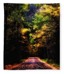 Glacier Fall Road Fleece Blanket