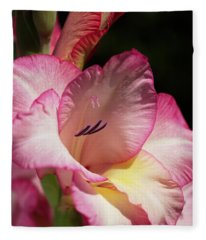 Gladiolus In Pink Fleece Blanket