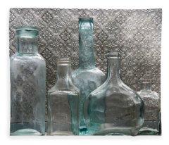 Glass Bottles 1 Fleece Blanket