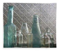 Glass Bottles 2 Fleece Blanket