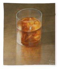 Glass Of Whisky 2010 Fleece Blanket