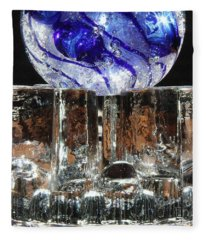 Glass On Glass Fleece Blanket