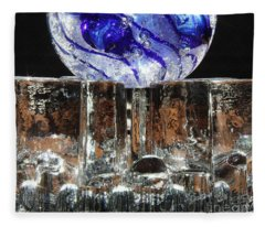 Glass On Glass Fleece Blanket