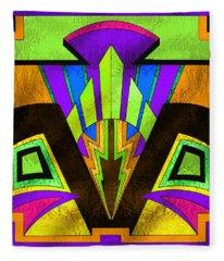 Glass Pattern 5 B Fleece Blanket