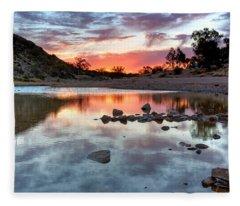 Glen Helen Gorge Sunset Fleece Blanket