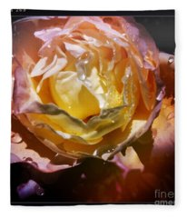 Glistening Rose Fleece Blanket