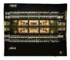 Glorious Modern Architecture At Night Fleece Blanket