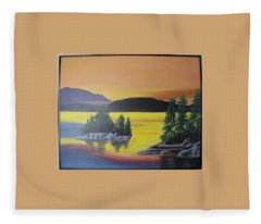 Glorious Sunrise Fleece Blanket