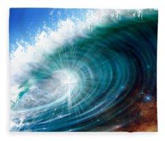 Glory Waves Fleece Blanket