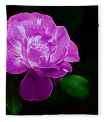 Glowing Rose II Fleece Blanket