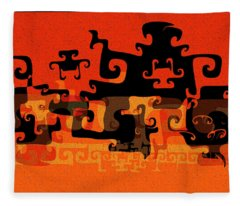 Gnarly Silhouette Parade Fleece Blanket