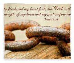 God Is My Strength Fleece Blanket