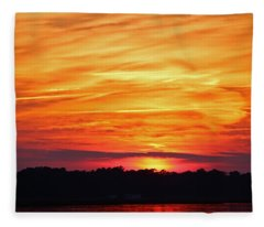 God Paints The Sky Fleece Blanket