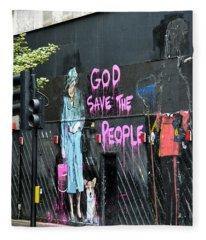 God Save The People Fleece Blanket
