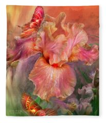 Goddess Of Spring Fleece Blanket