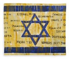 Gods Love For Israel Fleece Blanket