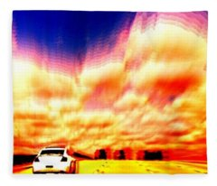 Going For A Ride Fleece Blanket