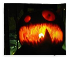 Going Up Pumpkin Fleece Blanket