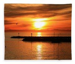 Gold Corona  Fleece Blanket