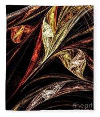Gold Leaf Fleece Blanket