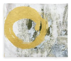 Gold Rush - Abstract Art Fleece Blanket
