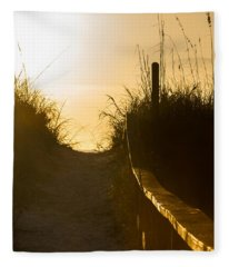 Golden Beach Access Fleece Blanket