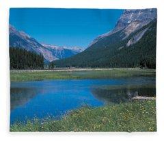Golden British Columbia Canada Fleece Blanket