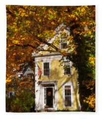 Golden Colonial Fleece Blanket