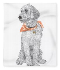 Trash Talking Golden Doodle Fleece Blanket