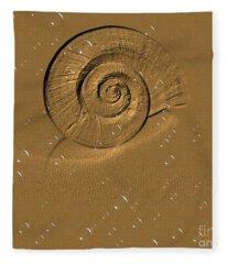 Golden Fantasy. Shell. Abstarct. Beautiful Home Collection 2015 Fleece Blanket