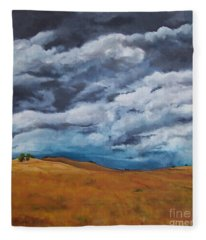 Golden Fields Fleece Blanket