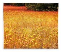 Golden Pastures Fleece Blanket