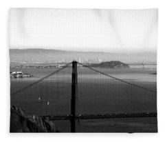 Golden Gate And Bay Bridges Fleece Blanket