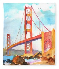 Golden Gate Bridge 3 Fleece Blanket