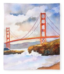 Golden Gate Bridge 4 Fleece Blanket