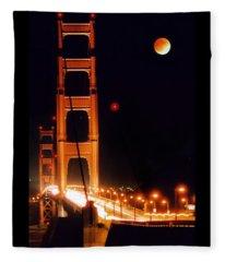 Golden Gate Night Fleece Blanket