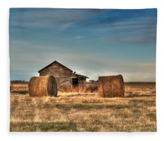 Golden Hay Fleece Blanket