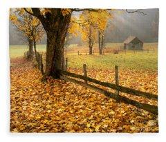 Golden Hours Fleece Blanket